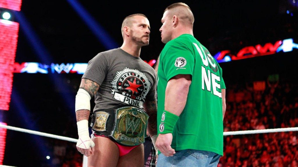 CM Punk and John Cena